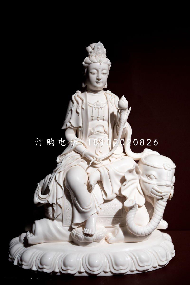 普贤菩萨石雕 汉白玉佛像