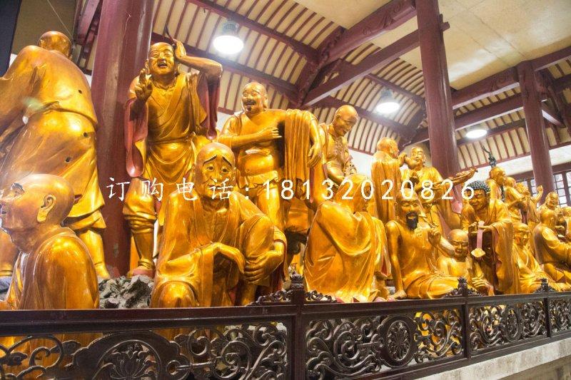 十八罗汉铜雕 寺庙铜佛像