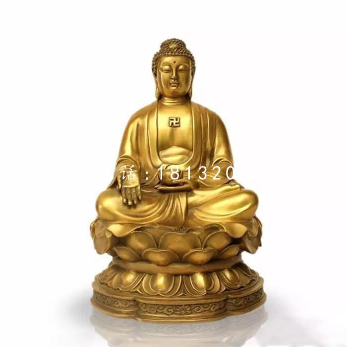 释迦牟尼佛铜雕 坐式铜佛像