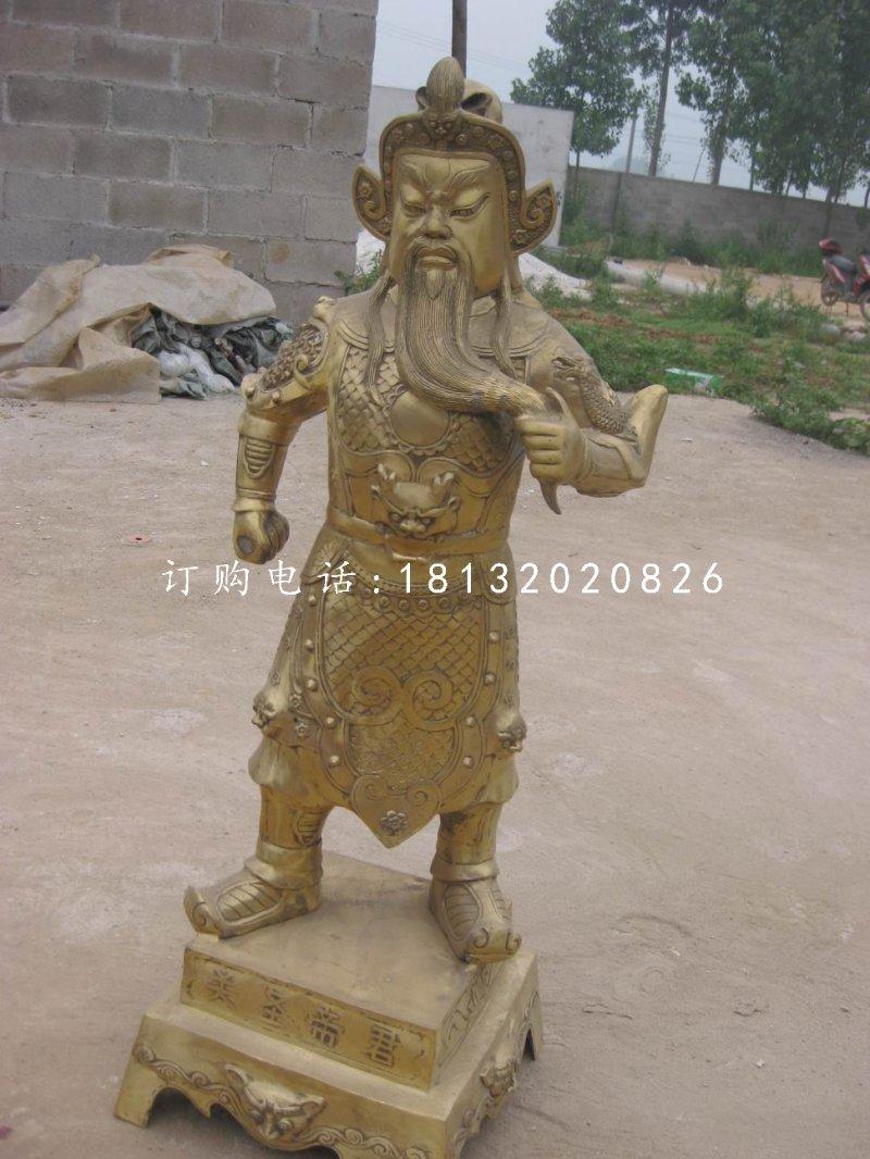 关圣帝君铜雕 立式铜关公