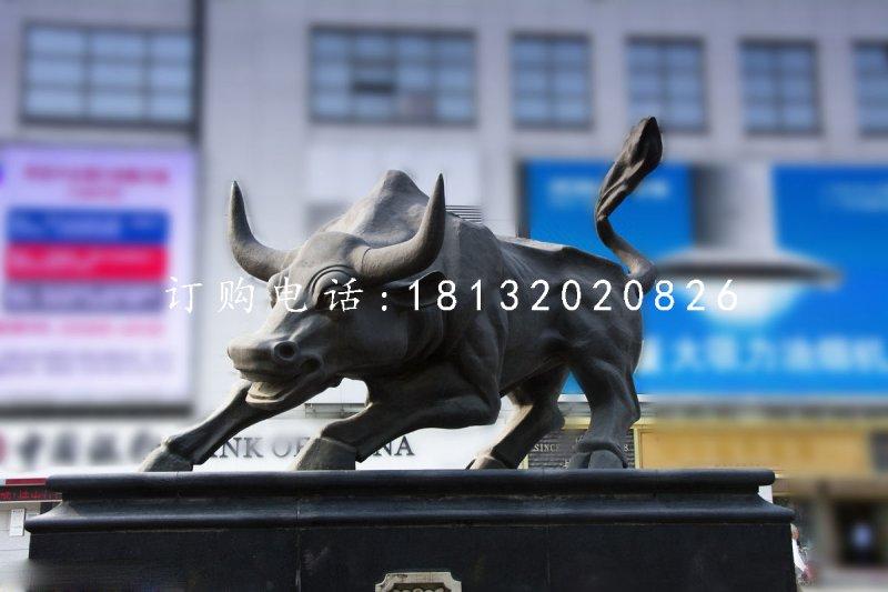 街边铜牛雕塑 华尔街牛雕塑