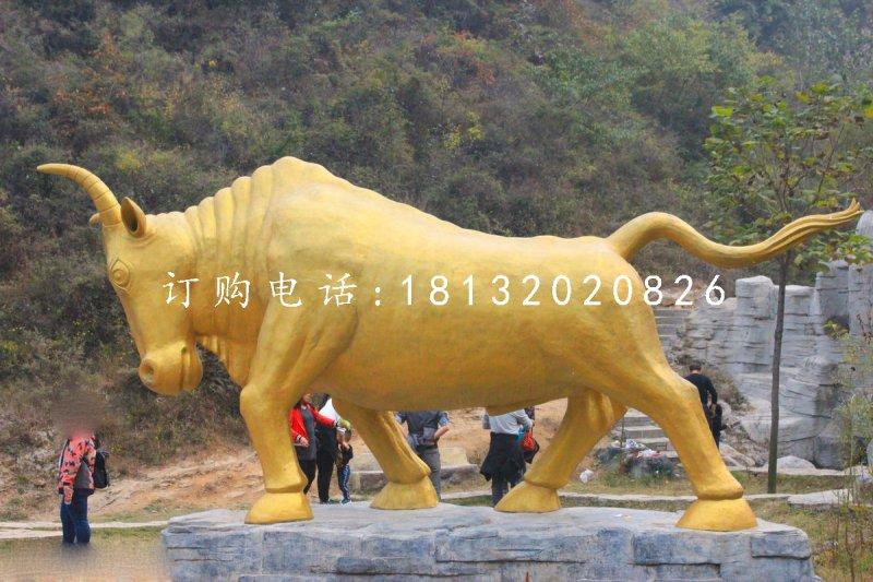 金牛铜雕 景区动物雕塑