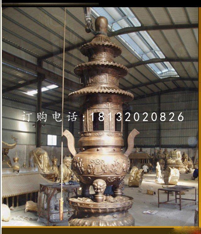 三足铜香炉寺庙香炉