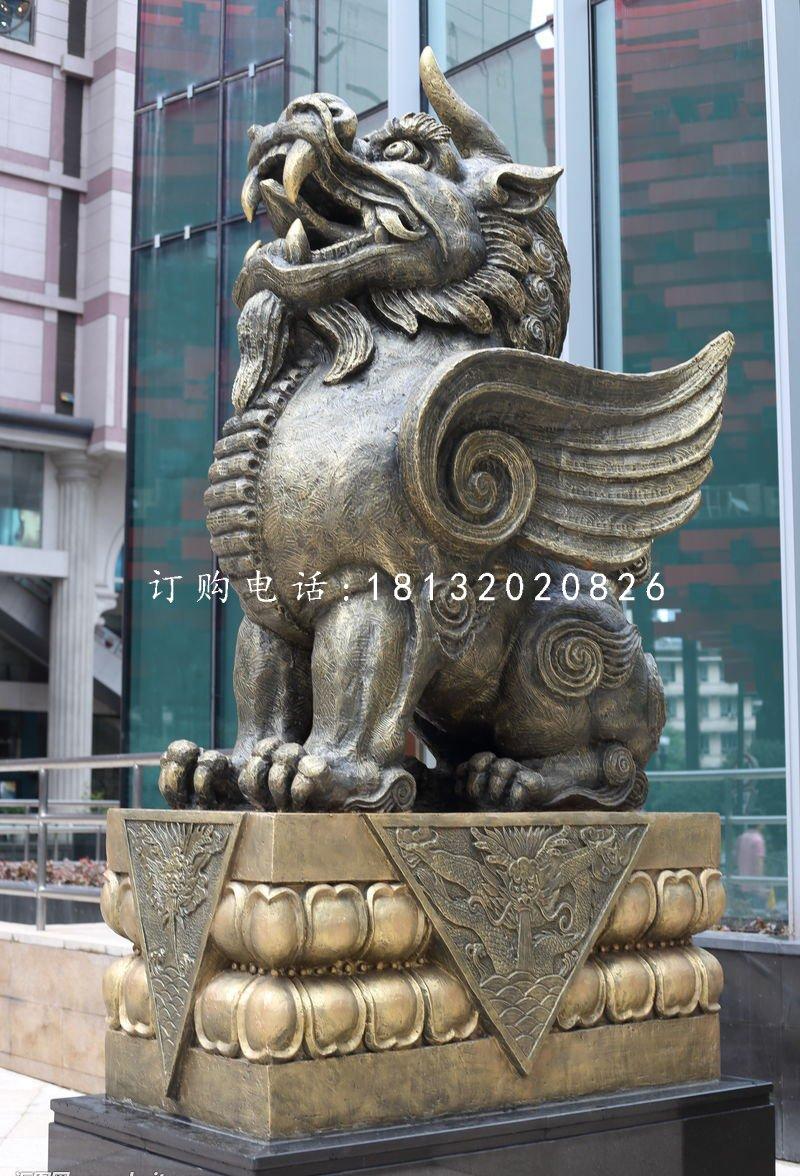 獬豸銅雕 法院門口神獸雕塑