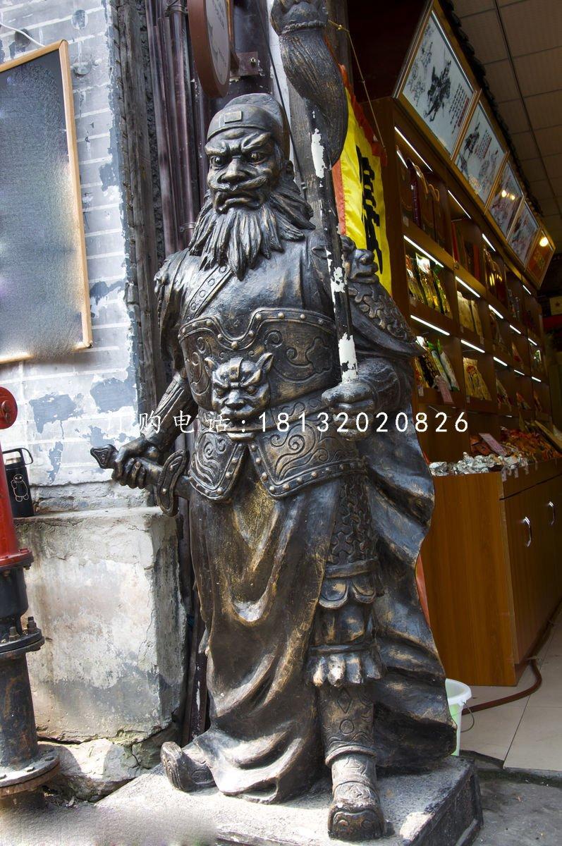 张飞铜雕 古代人物铜雕
