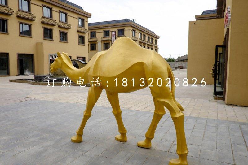 玻璃钢仿铜骆驼 动物雕塑