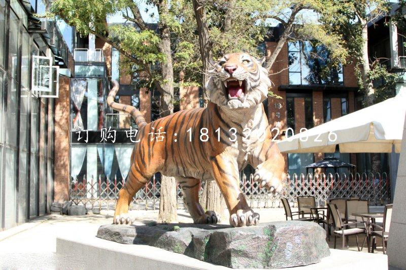 仿真老虎雕塑 玻璃钢动物