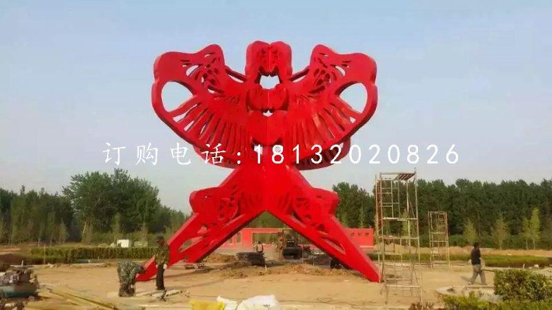 不锈钢公园雕塑,不锈钢风筝雕塑