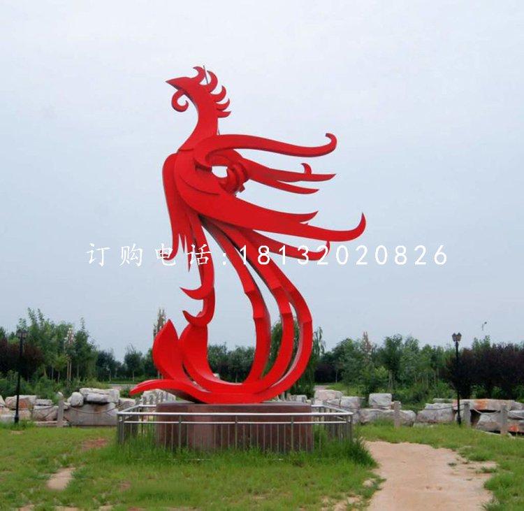 不锈钢凤凰雕塑公园景观雕塑