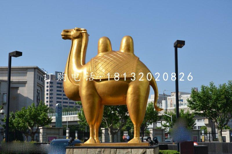 双峰骆驼铜雕城市景观雕