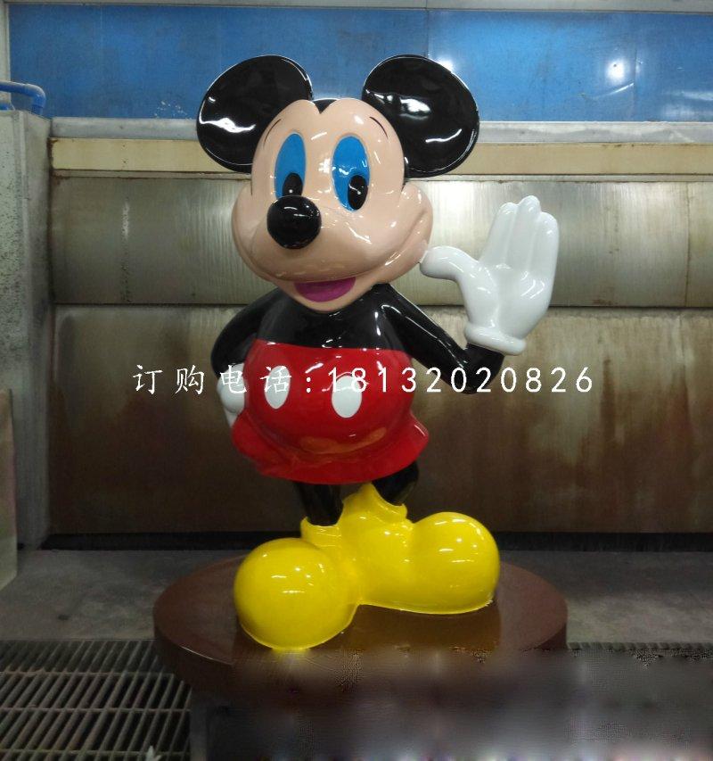 游乐场卡通米老鼠雕塑 玻璃钢卡通雕塑
