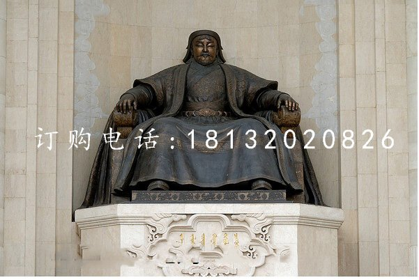 成吉思汗铜雕 一代天骄铜雕