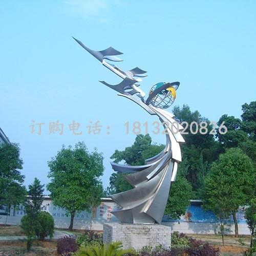 飞向世界雕塑企业不锈钢