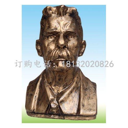 高尔基铜雕 作家铜雕