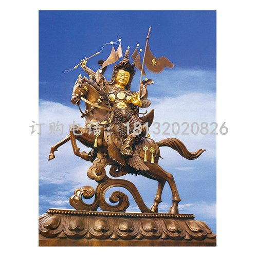 格萨尔王铜雕 古代神话人物铜雕