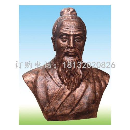祖冲之胸像铜雕 古代数学家铜雕