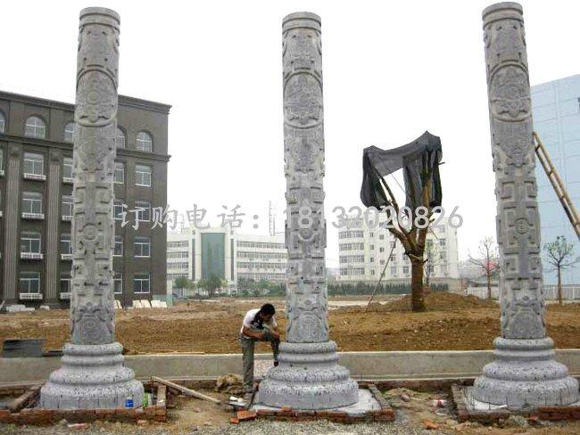 石雕柱子 广场中式柱子