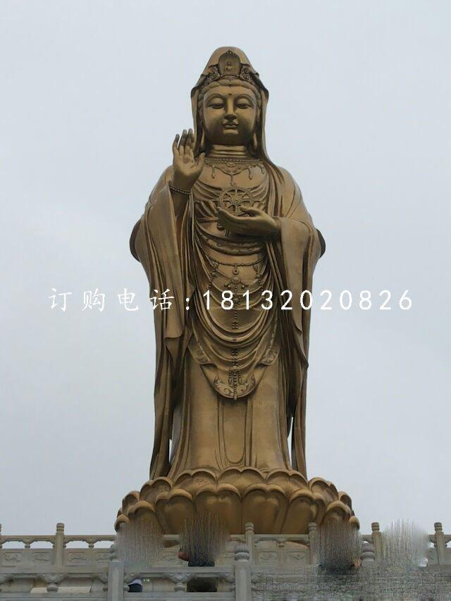 立式观音菩萨铜雕 大型铜佛像