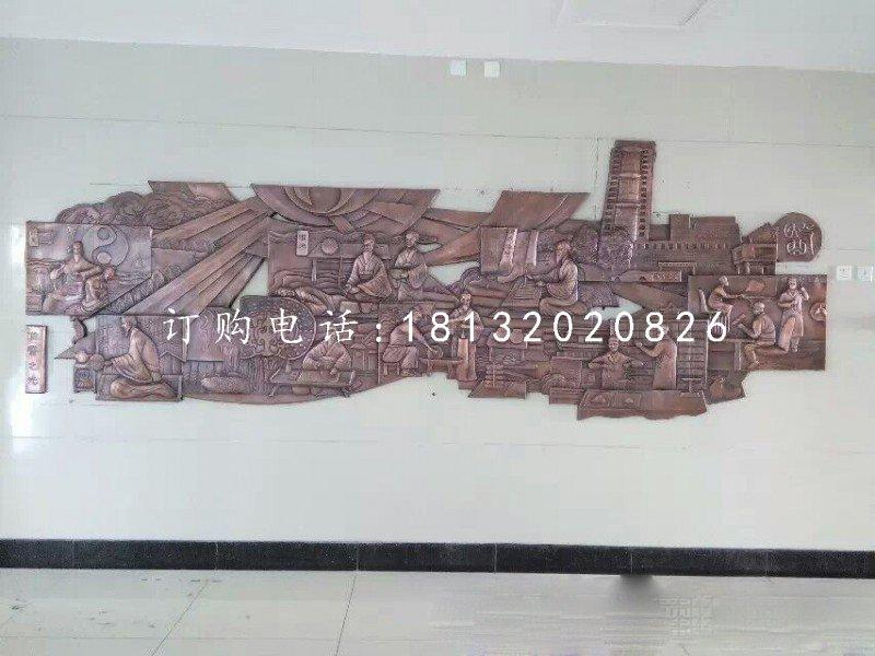 古代医学家铜浮雕 锻铜浮雕