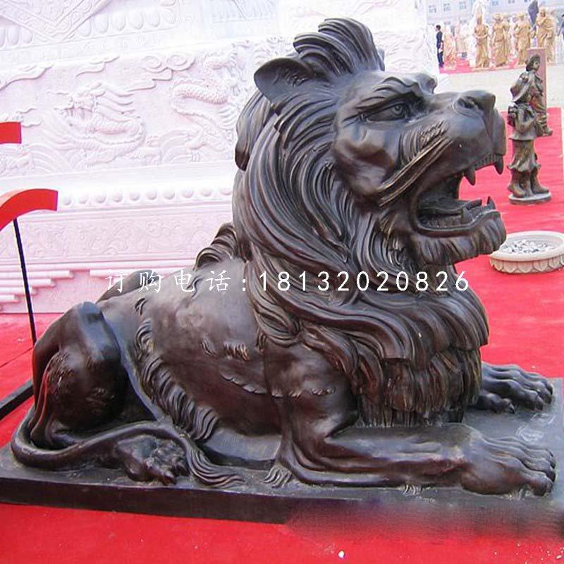 汇丰狮铜雕 西洋狮雕塑