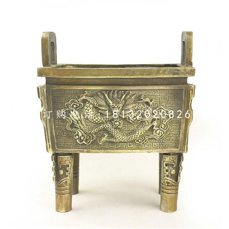 龙戏珠浮雕鼎铸铜鼎