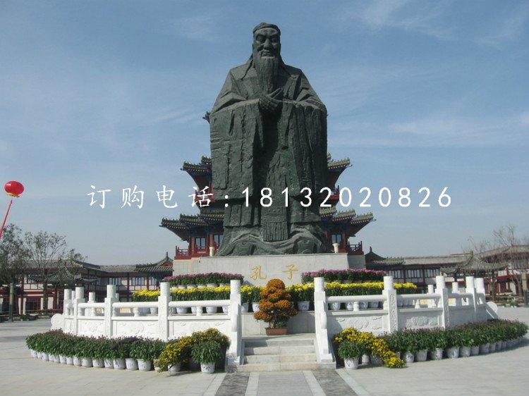 锻铜孔子雕像 大型孔子圣像
