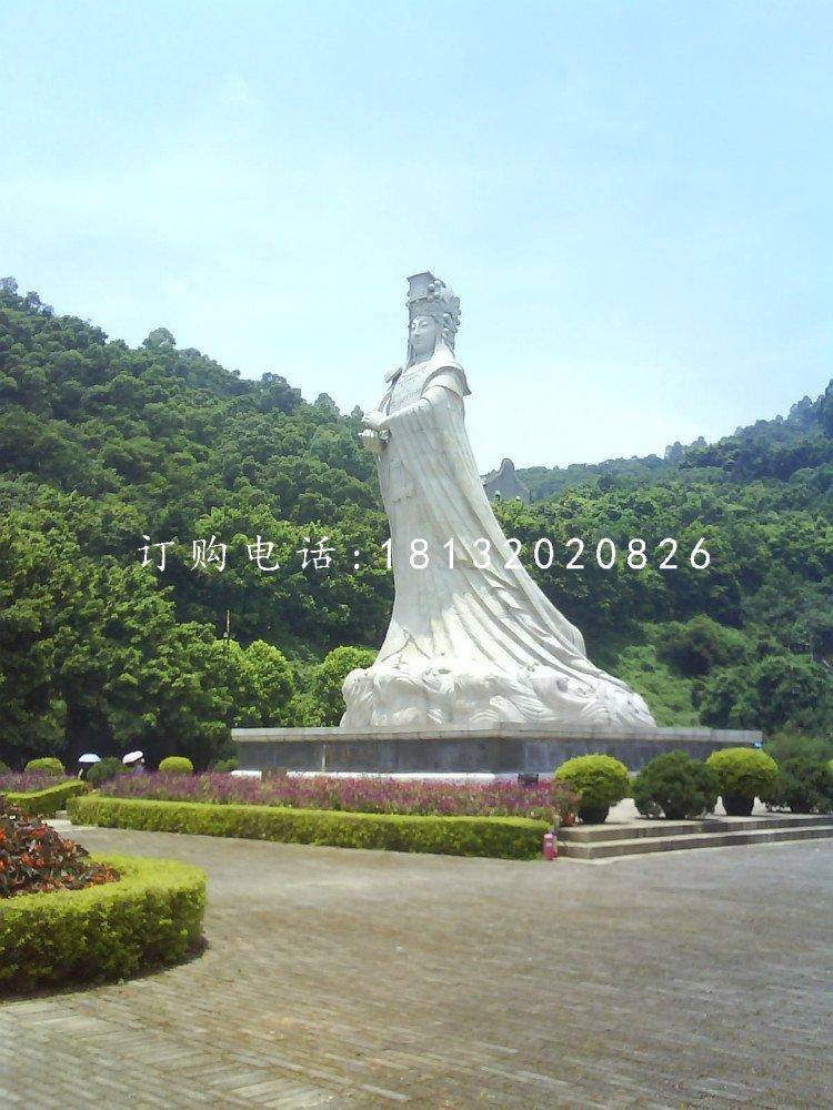 汉白玉妈祖石雕神像石雕