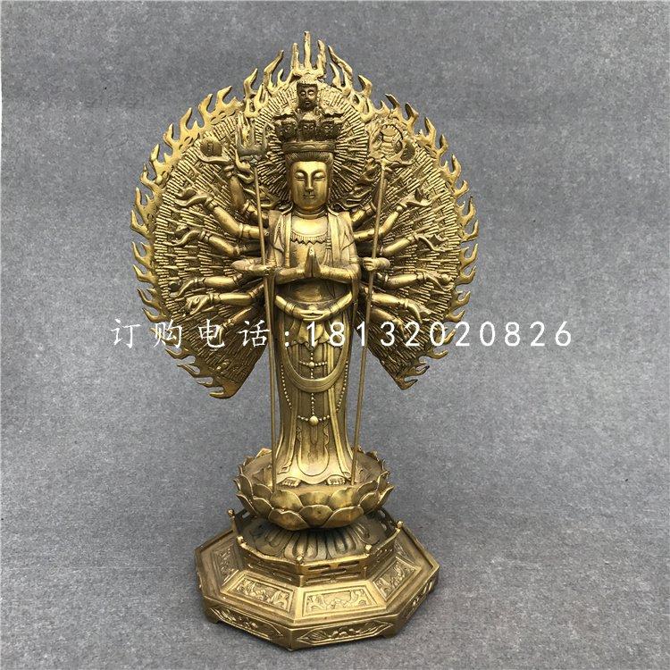 千手观音铜雕寺庙立式铜