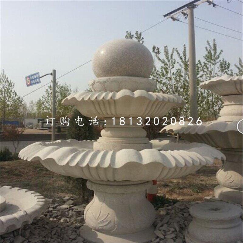 大理石风水球 公园喷泉石雕