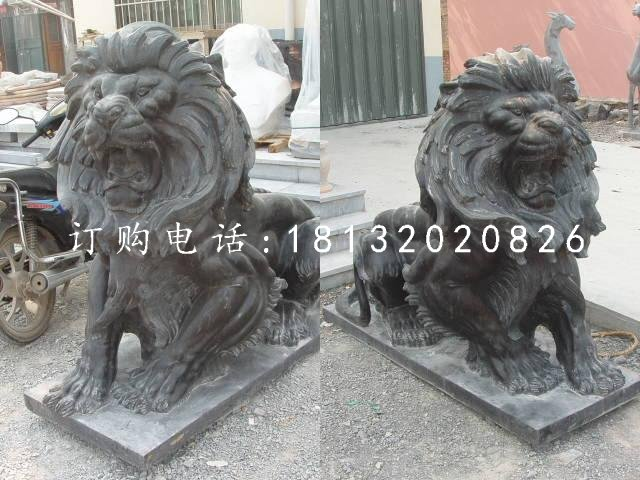 西洋吼狮铜雕欧式铜狮子