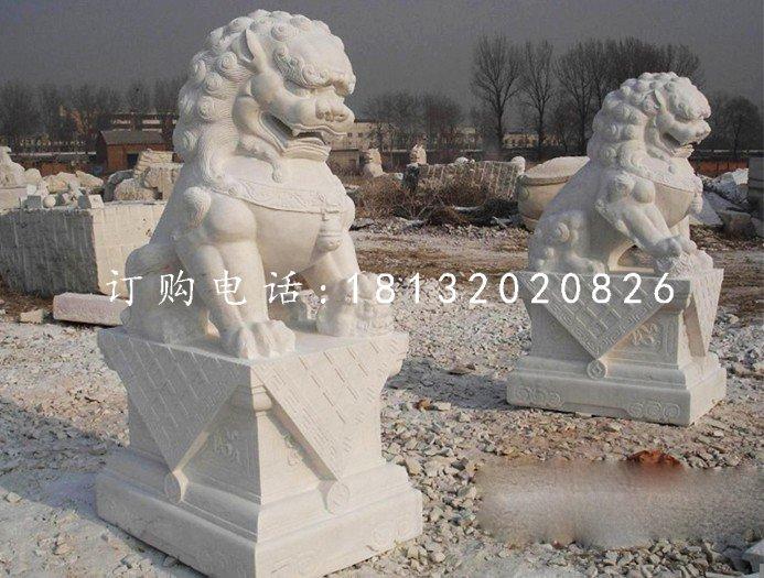 汉白玉狮子雕塑北京狮石