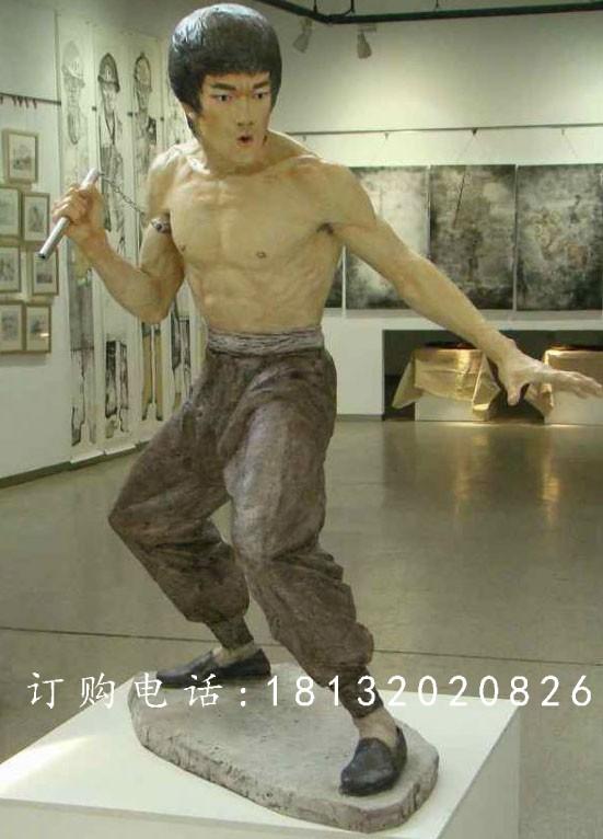 李小龙雕塑,玻璃钢电影明星雕塑