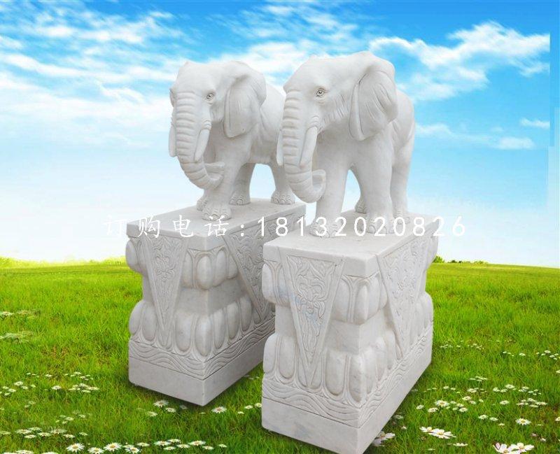 大理石大象,石雕动物