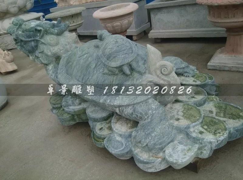 仿古龙龟石雕青石神兽雕塑