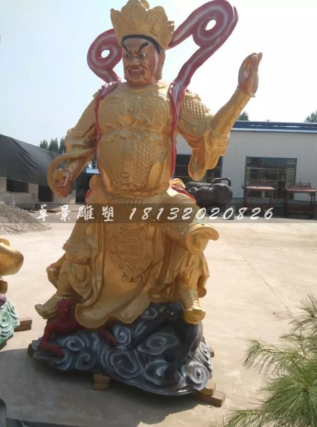 玻璃钢仿铜四大天王寺庙神像雕塑