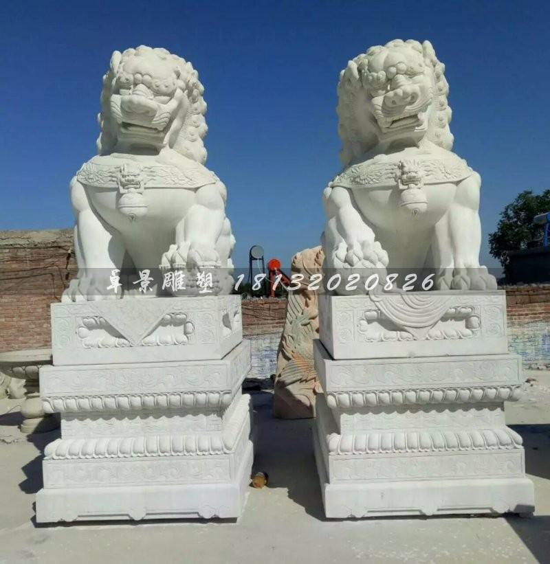 汉白玉北京狮石雕看门狮