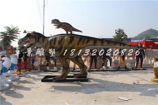 仿真恐龙雕塑公园玻璃钢动物雕塑