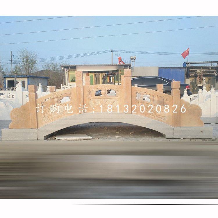 晚霞红石桥,公园景观石雕
