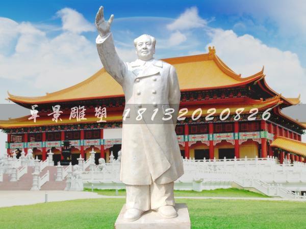 汉白玉毛主席雕塑广场伟