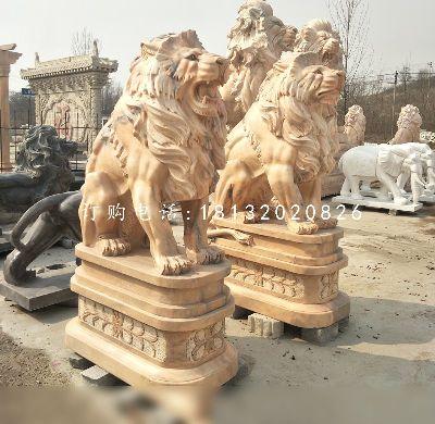 西洋狮石雕,欧式石雕狮子