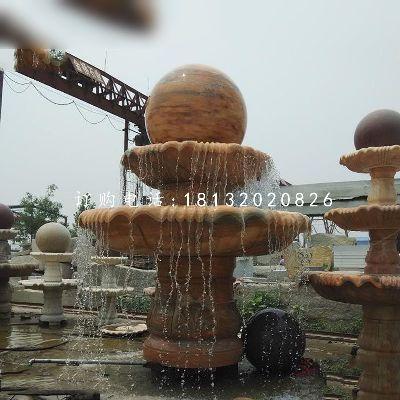 风水球喷泉,园林景观石雕