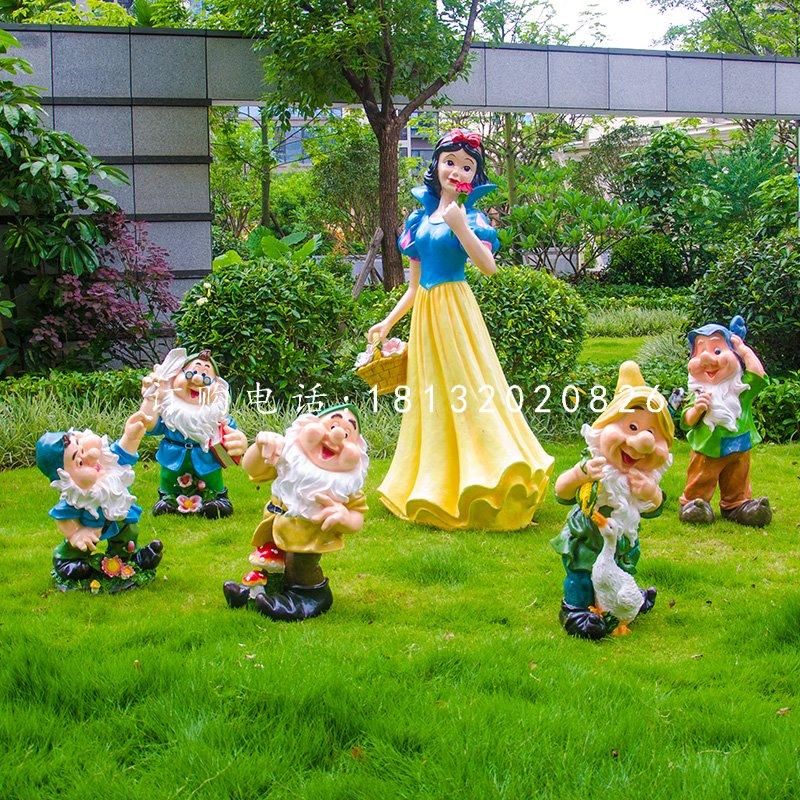 白雪公主小矮人雕塑,公园卡通人物雕塑 (2)