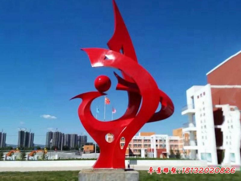 不銹鋼抽象之球 公園景觀雕塑