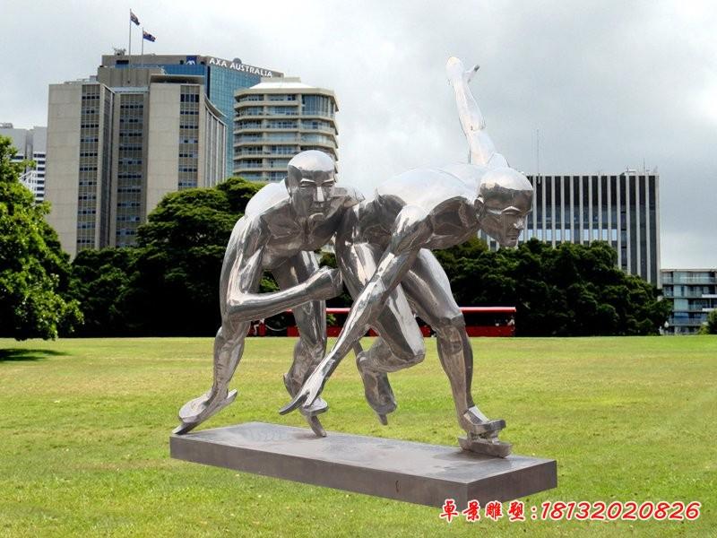 不銹鋼奔跑人物雕塑廣場運動人物雕塑[1][1]