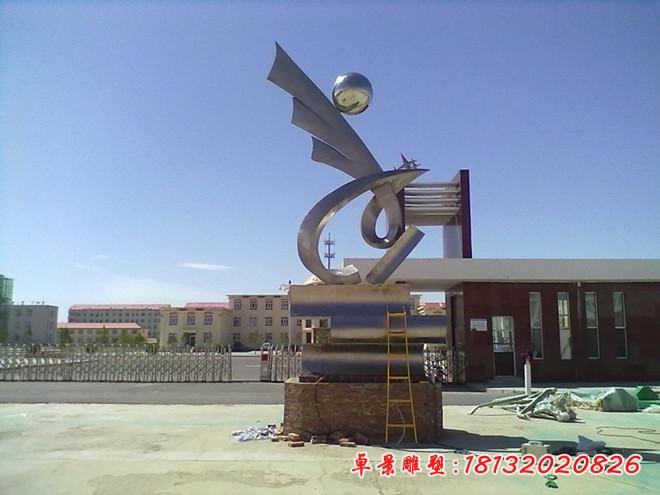 展翅高飛雕塑校園不銹鋼雕塑 (3)