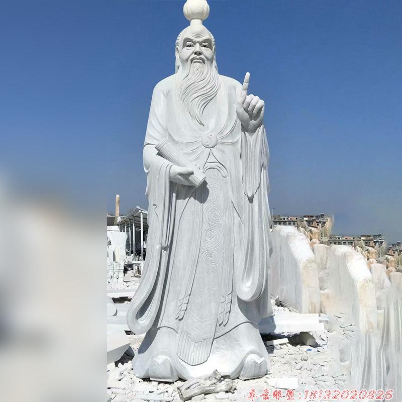 中國春秋時代思想家老子石雕