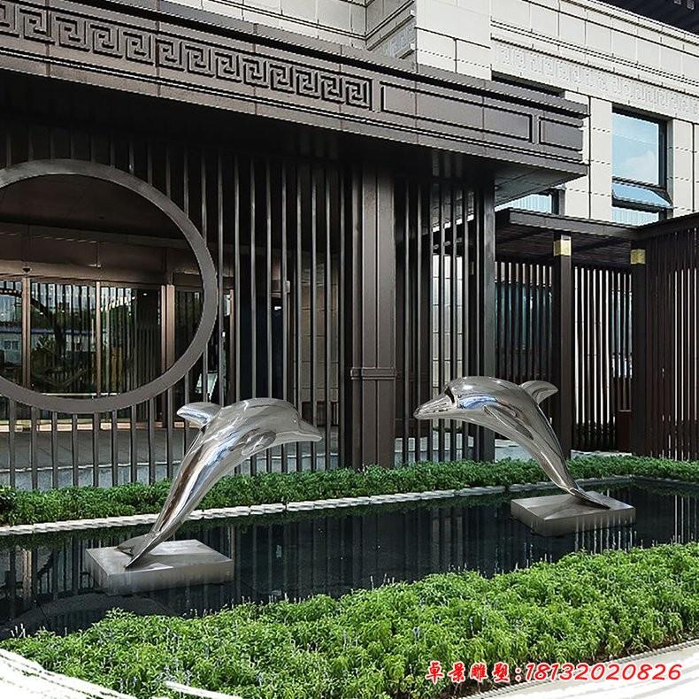 海洋之戀不銹鋼海豚雕塑 (3)[1][1]