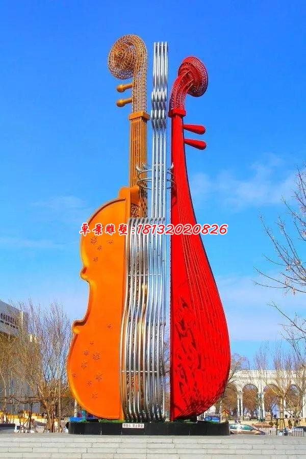 不銹鋼小提琴,廣場不銹鋼雕塑[1][1]