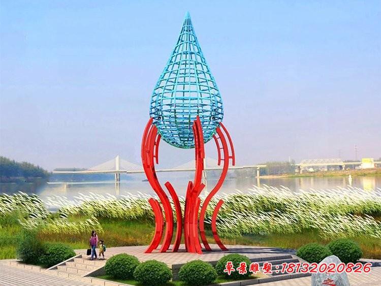 抽象大型水滴雕塑