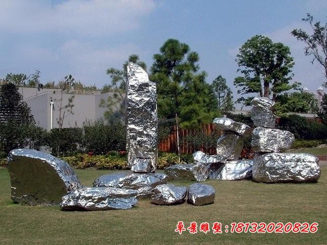 不銹鋼園林太湖石雕塑